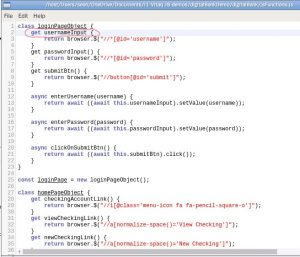 Page Object Model Syntax Error